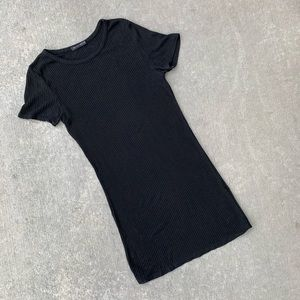 Brandy Melville black t-shirt dress one size